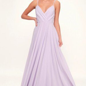 Lulu's All About Love Lavender Maxi Dress